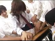 Cute Schoolgirl Bukkake Gangbang