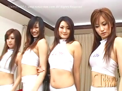 Uncensored Sex Orgy with Four Japanese Racequeens