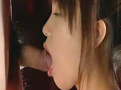 Japanese Teen Deepthroat No Hands Blowjob