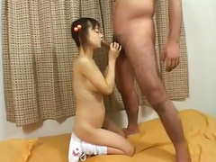 Cute Japanese Teen in Pigtails Creampied