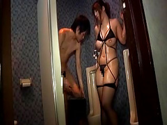 Blowjob in Toilet with BBW Japanese Hooker 2